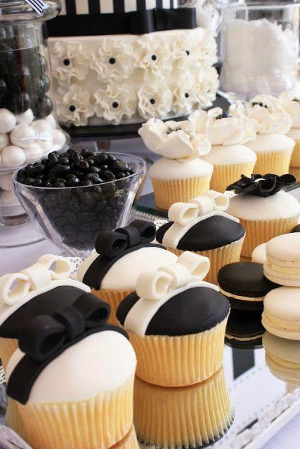 Mesas de dulces para bodas en blanco y negro littlebigco blogspot com au - Las Mesas de Dulces en las Bodas