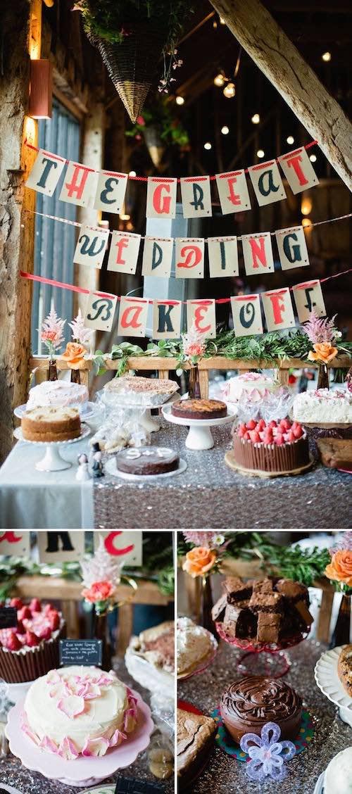 idea original para escoger los postres para las mesas de tu boda