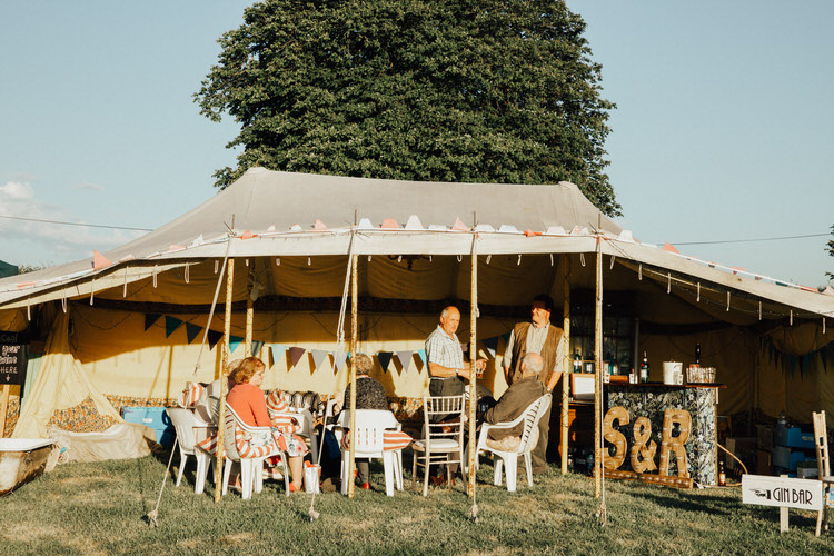 38 Handmade Vintage loving Back Garden Wedding in North Yorkshire by Patrick Phillips with a handmade