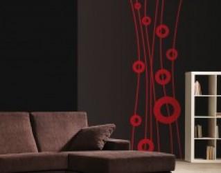 Pon vinilos decorativos florales para paredes y lleva la primavera a tu hogar